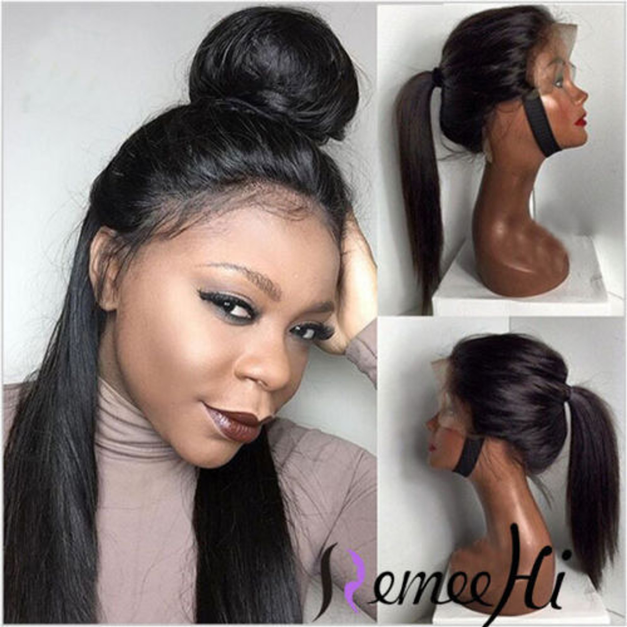 Remeehi silky straight full lace wig 100%
