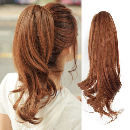 8 12 Remeehi Short Wavy Wrap Around Ponytail Clip In 100 Remy Human Hair Extensions Piece Remeehi
