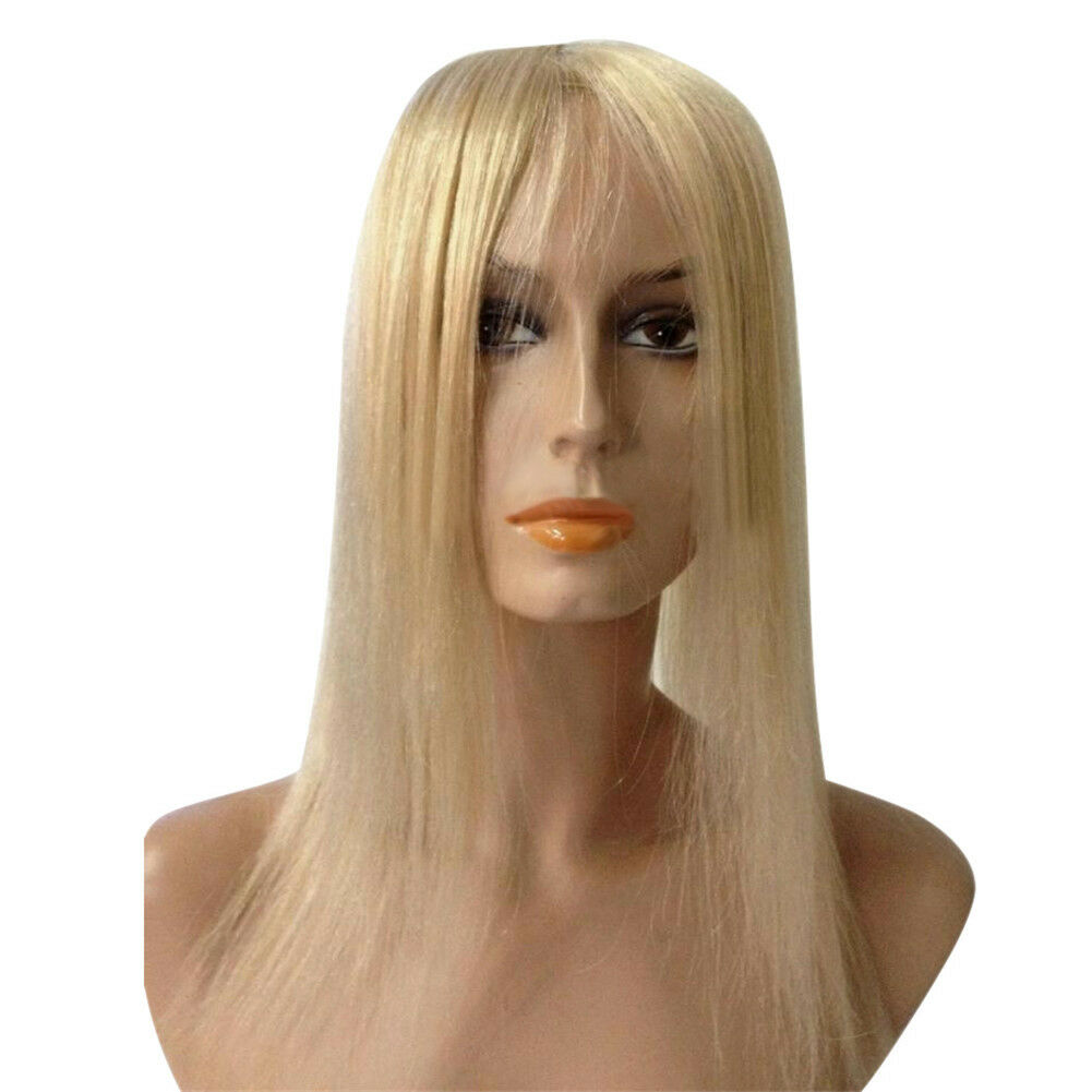Hand Made Topper Hairpiece Clip in 100% Human Hair Straight Remy Hair Top Toupee (JF-D03392)