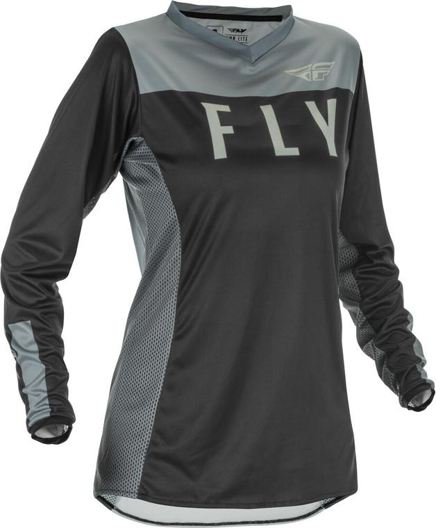 Fly Racing Women's Lite Jersey | Black/Grey