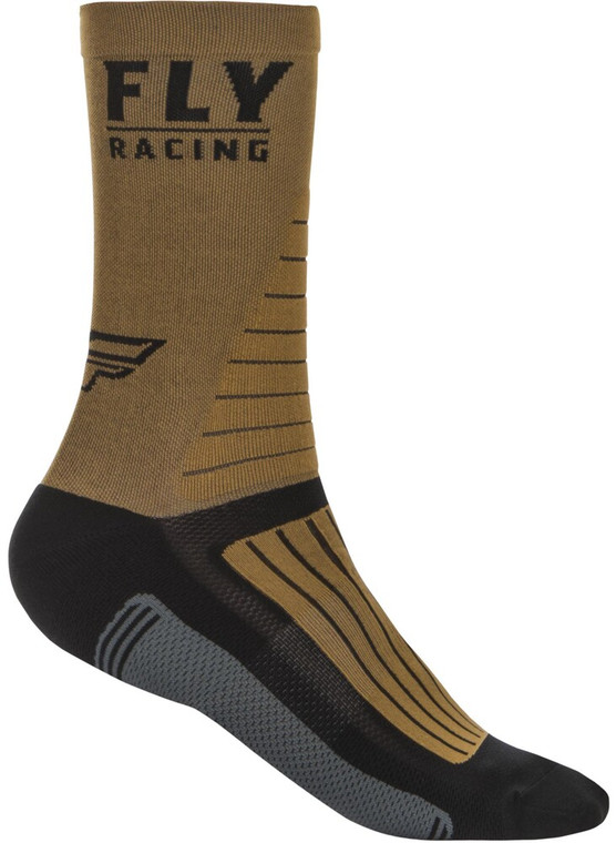 Fly Racing Factory Rider Socks | Khaki/Black/Grey