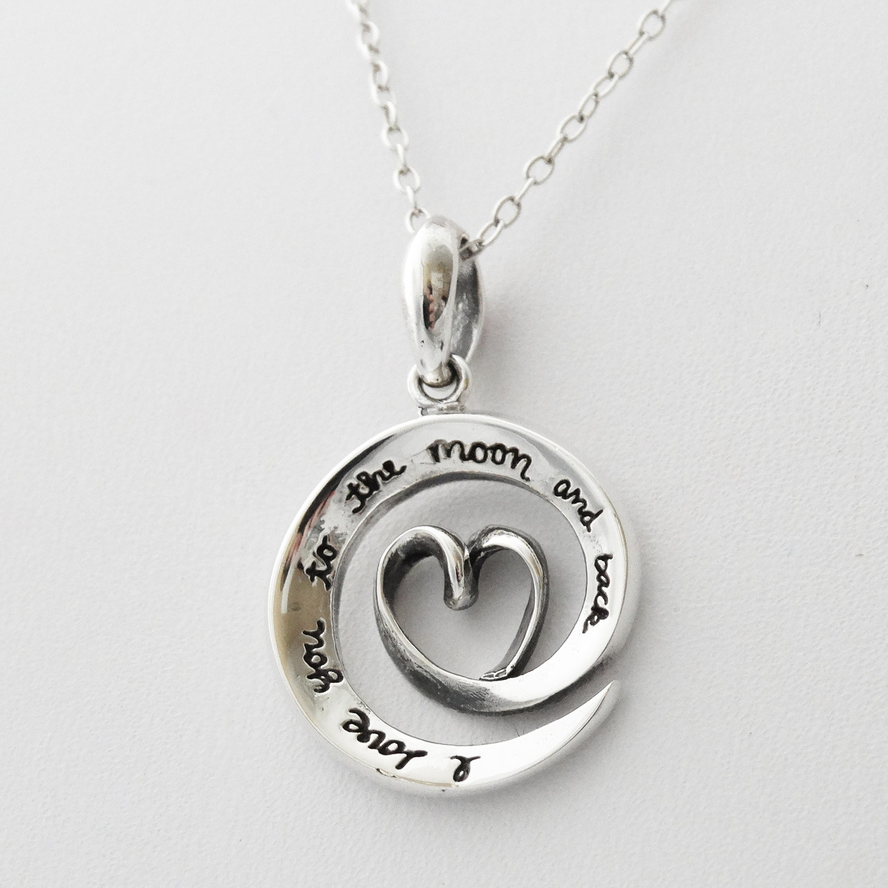 .925 Sterling Silver I Love You Charm Pendant