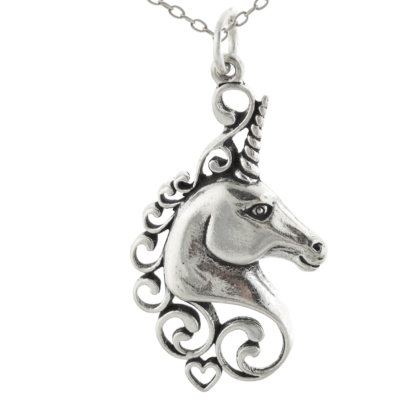 Sterling Silver Unicorn Necklace (BCN-Unicorn-Lav