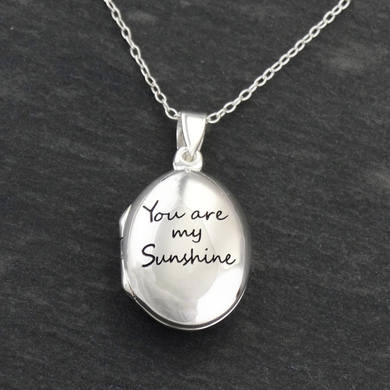 71355e0caf418b Sterling Silver You are My Sunshine Locket Necklace | FashionJunkie4Life