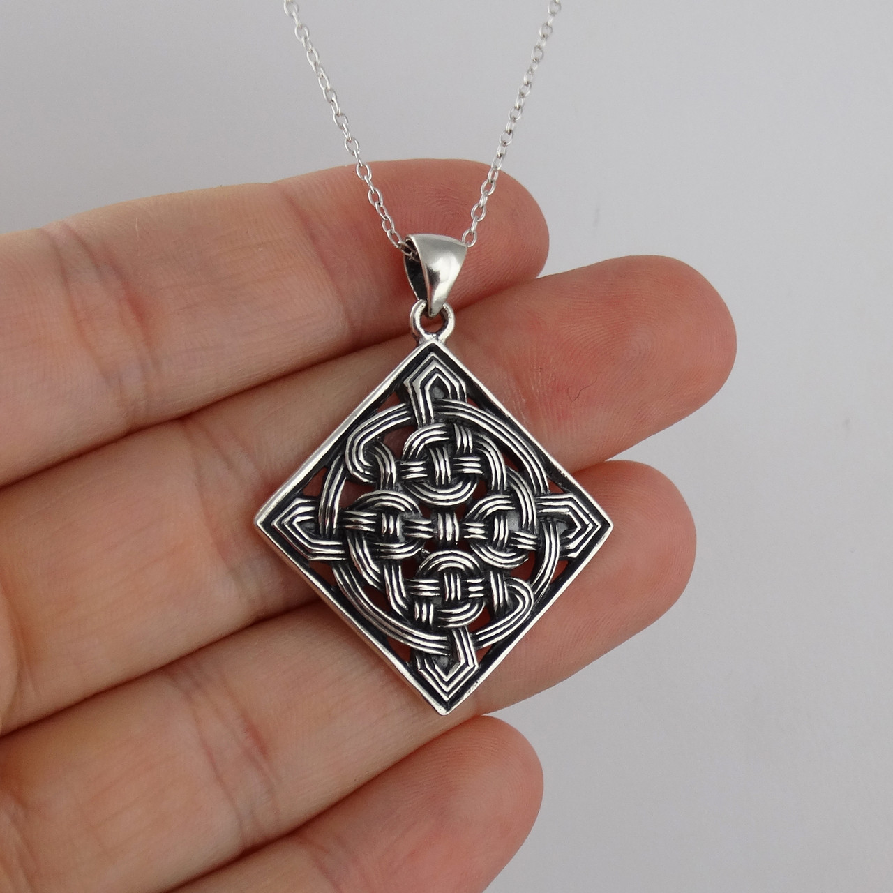 7e7356623854c Celtic Knot Necklace in 925 Sterling Silver