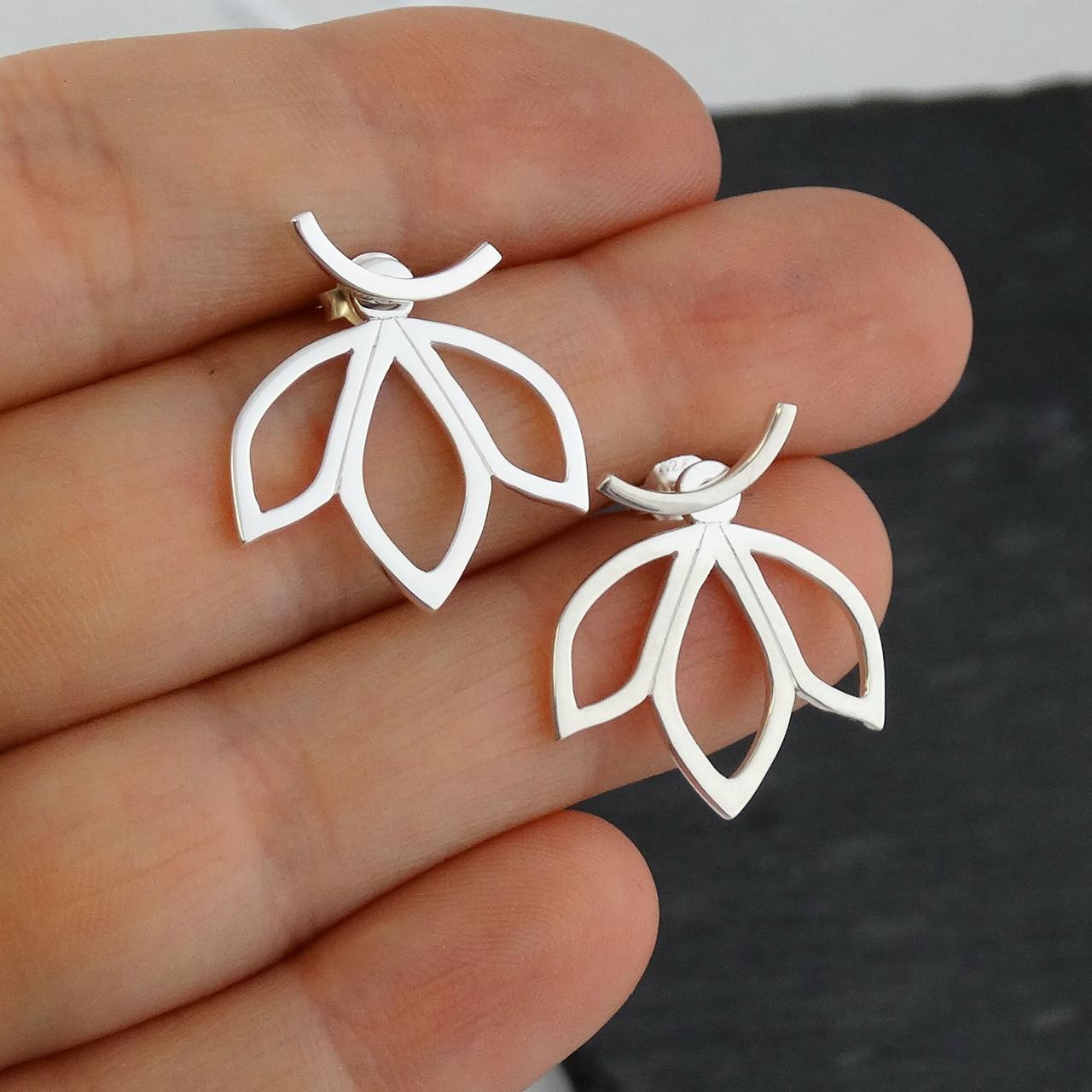 Sterling Silver Petal Earring Jackets