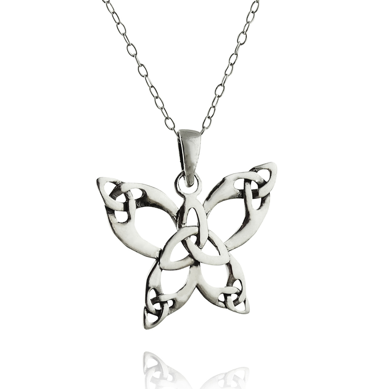 FashionJunkie4Life Sterling Silver Inspirational Butterfly Charm Necklace 18 Chain