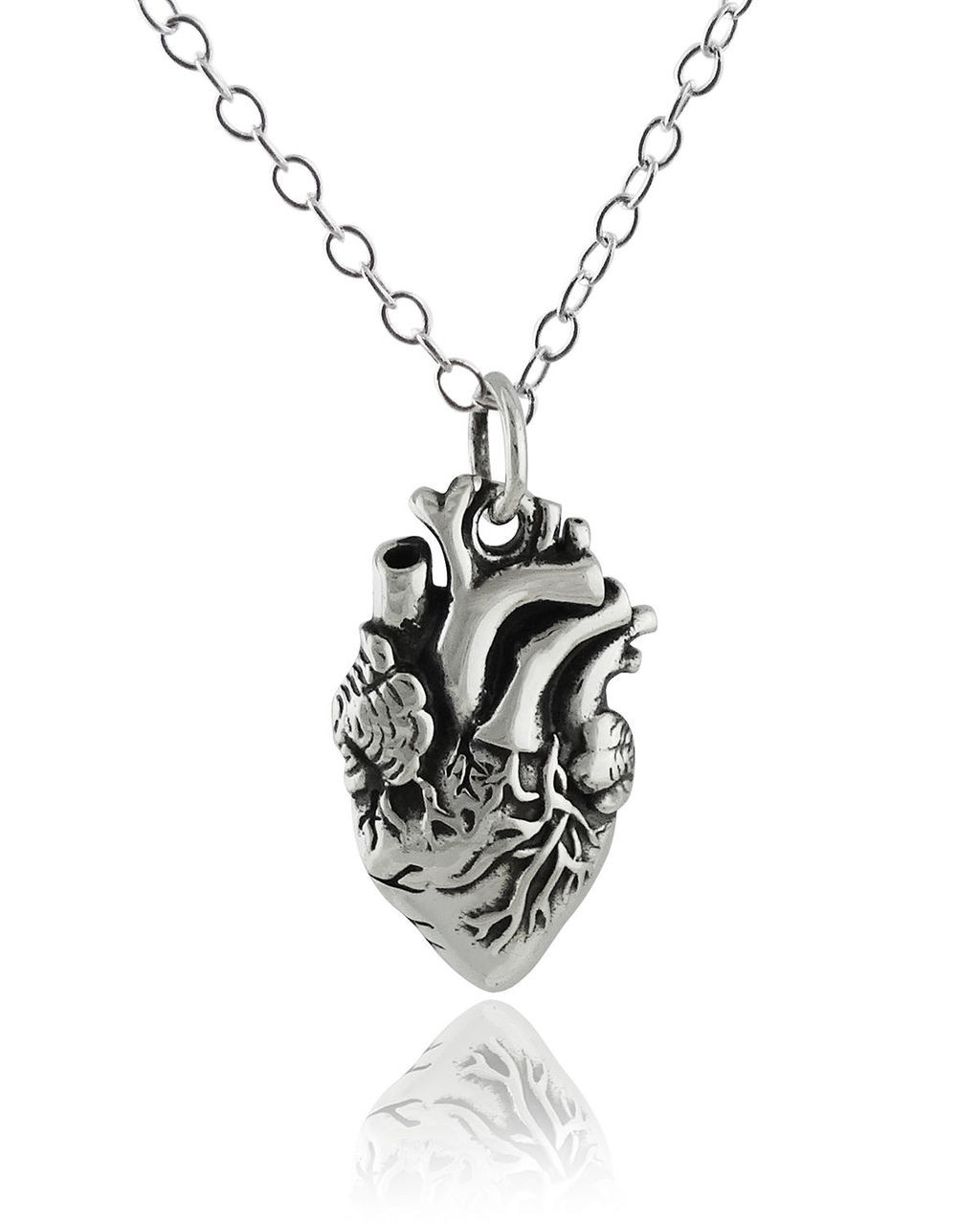 Anatomical Heart Charm Necklace