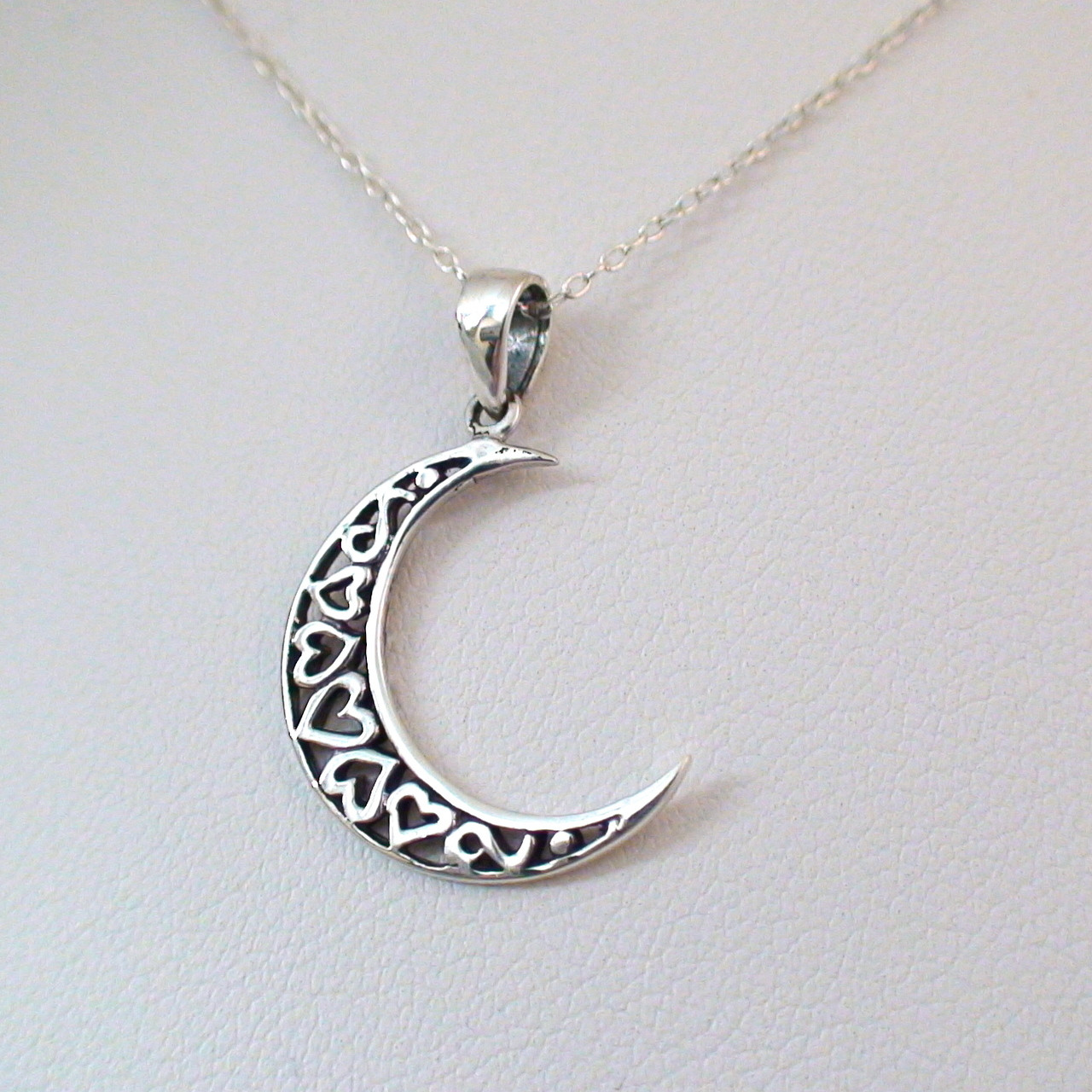 Sterling Silver Small Crescent Moon Charm