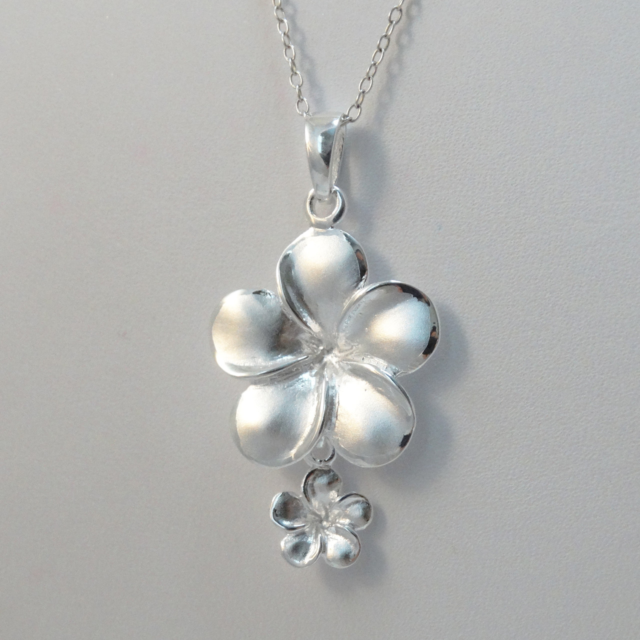 Sterling Silver Plumeria Necklace Fashionjunkie4life