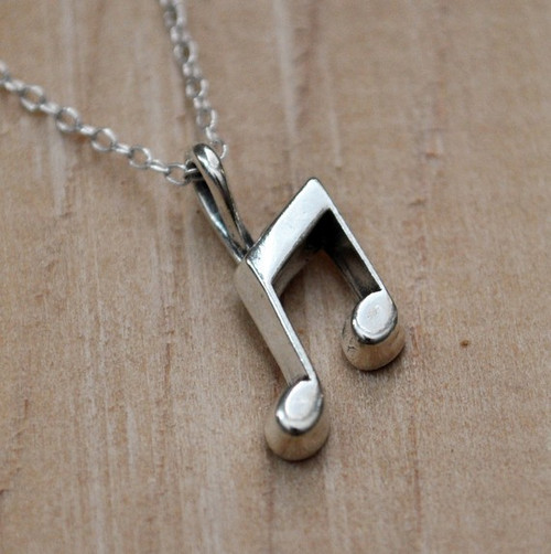 Song Pendant, Sterling Silver Pendant Musical Jewelry Music Note Charm Sterling Silver Charm 925 Charm