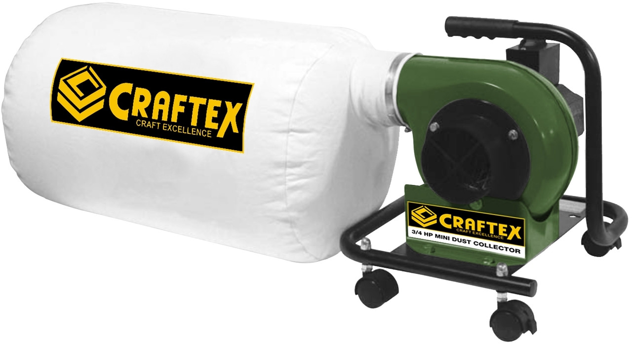 CRAFTEX MINI PORTABLE DUST COLLECTOR 3/4