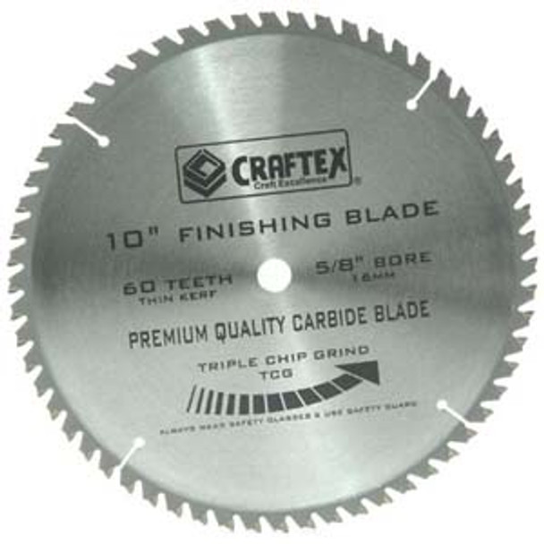 BLADE 10IN. X 60T TCG CRAFTEX