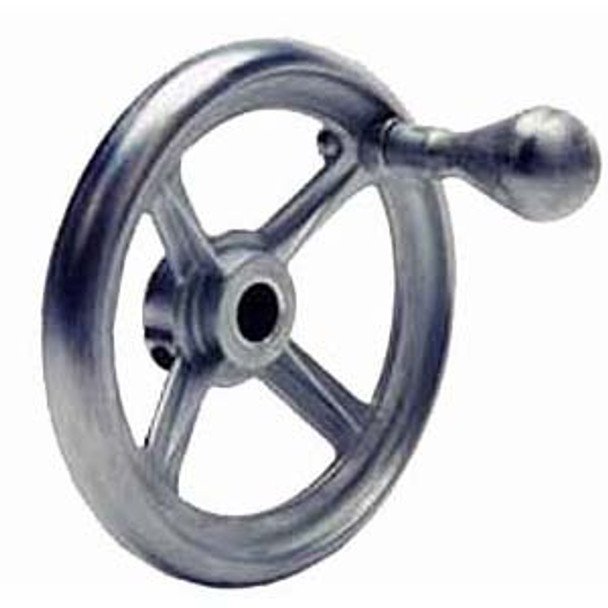 HAND WHEEL DIE CAST 4.5 OD X 0.5IN. BORE