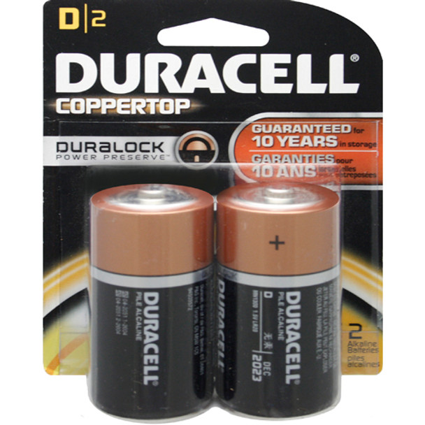 BATTERY 1.5V D 2/PK DURACELL BLISTERPACK