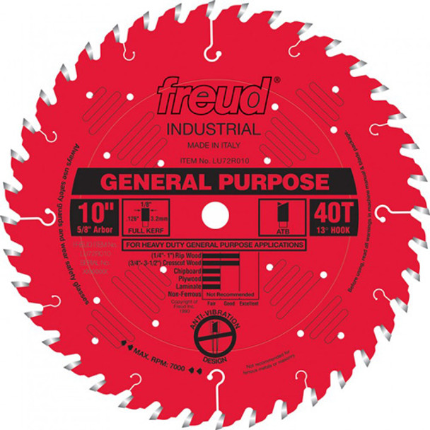 SAW BLADE 10IN. X 40T ATB FREUD GEN.PUR.