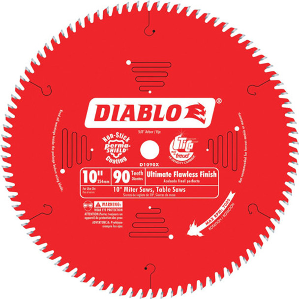10IN. X90T FLAWLESS FINISH BLADE DIABLO