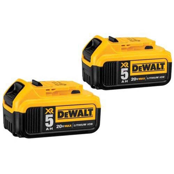 DEWALT 20V 5AMP LITHIUM ION BATTERY 2PCK