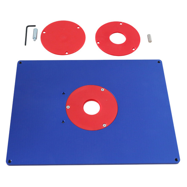 ALUMINUM ROUTER TABLE INSERT PLATE 9IN. X12