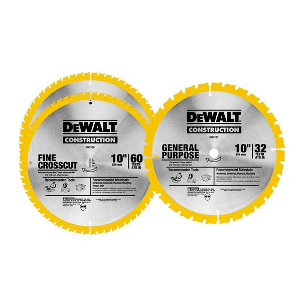 SAW BLADE DW3106 AND DW3103 10IN. 3PC