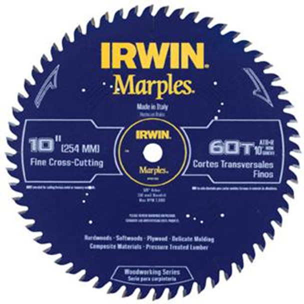 IRWIN MARPLES 10IN. SAW BLADE 60T ATB R