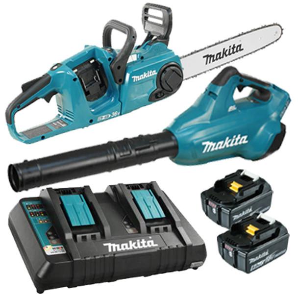 18V 14IN. CHAINSAW WITH BLOWER/BATTERIES