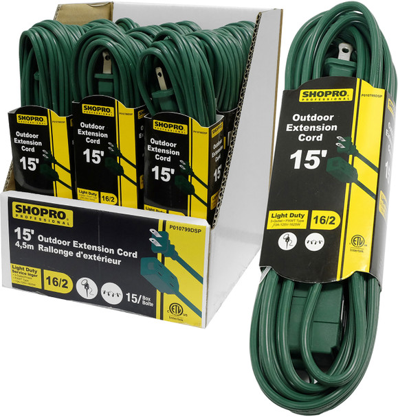 15FT OUTDOOR EXTENSION CORD