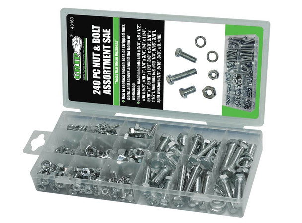240 PC NUT AND BOLT ASSORMENT SAE