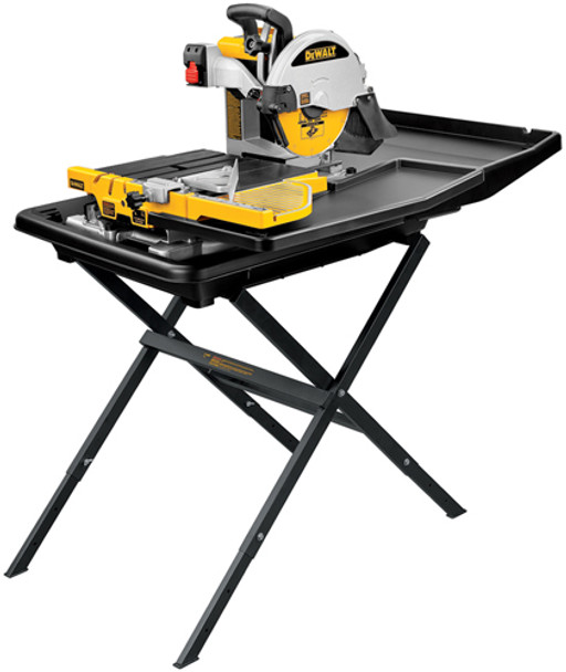 DEWALT TILE SAW 10IN. WITH STAND