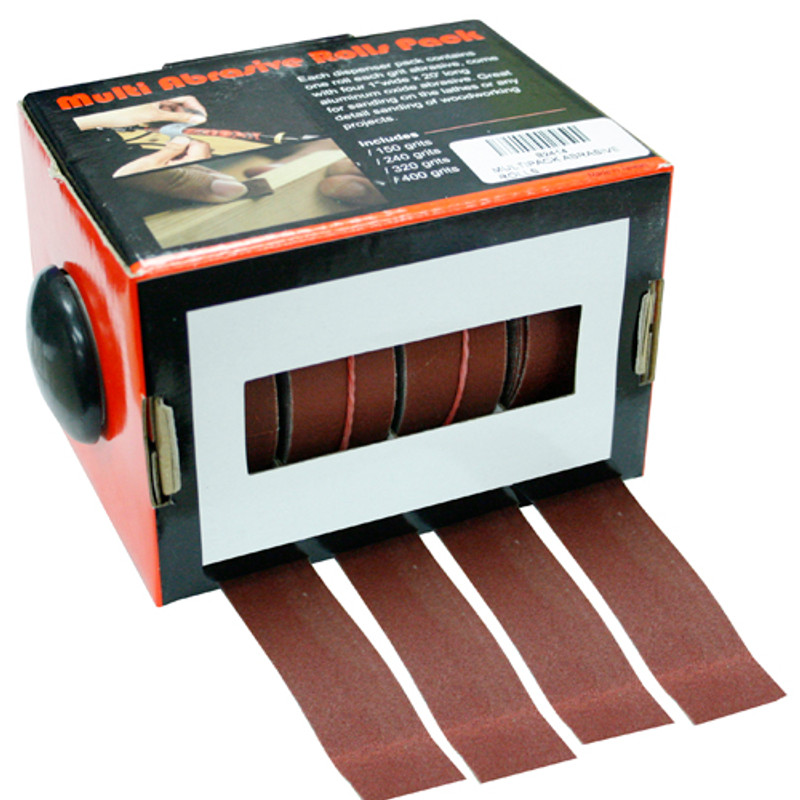 SANDING PACK 4PC SET TURNERS 1IN. X 20FT