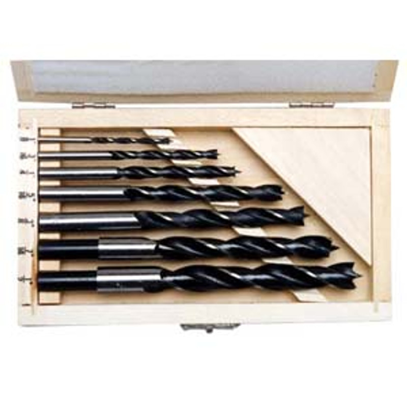 BRAD BIT SET 7PC ALLOY STEEL 1/8IN. 1/2IN.