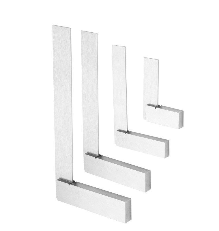 STEEL SQUARE SET 4 PC: 2IN. 3IN. 4IN. AND 6IN.