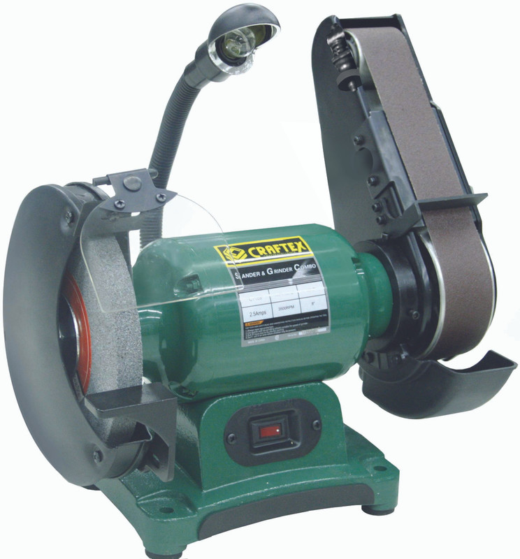 GRINDER AND SANDER 8IN. X 2IN. COMBO CRAFTEX CT169N