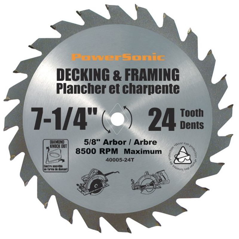 7 1/4IN. CARBIDE TIPPED FRAMING BLADE 24T
