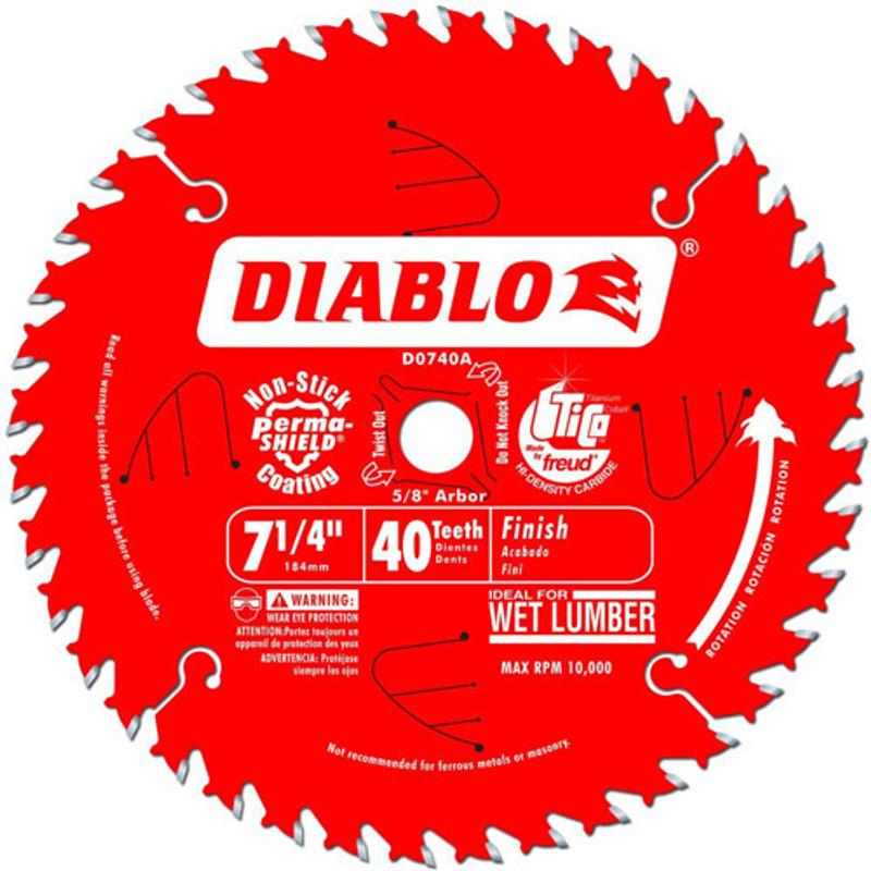 7 1/4IN. X 40T FINISHING BLADE DIABLO