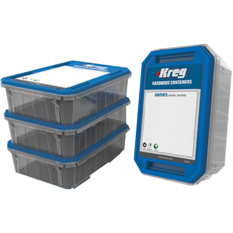 KREG SMALL HARDWARE CONTAINER 4 PACK