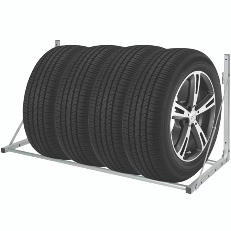 WALL MOUNTED TIRE STORAGE RACK