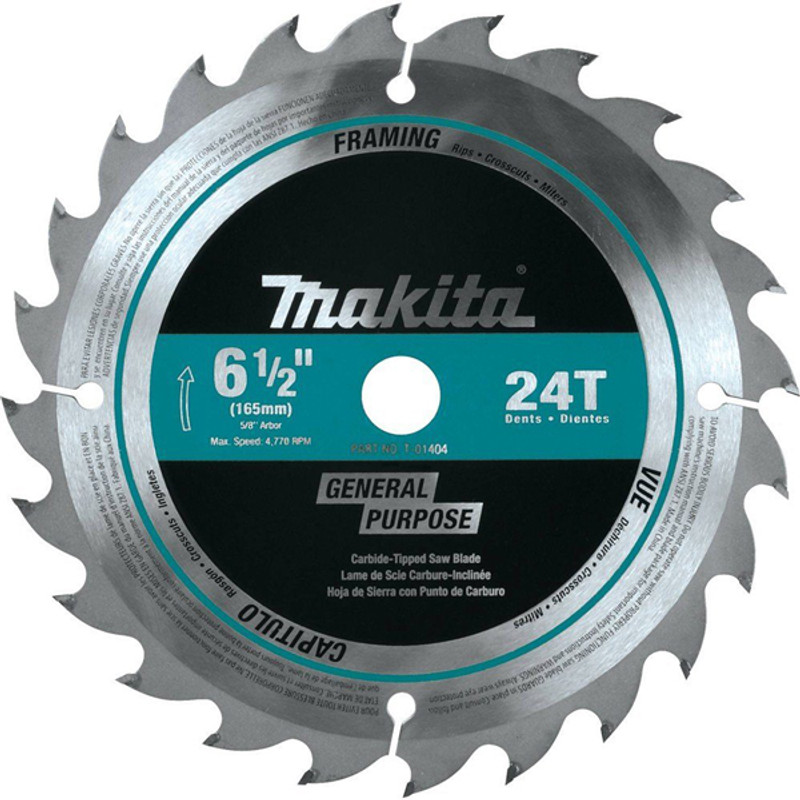 SAW BLADE CIRCULAR CT 6 1/2IN. 24T MAKITA