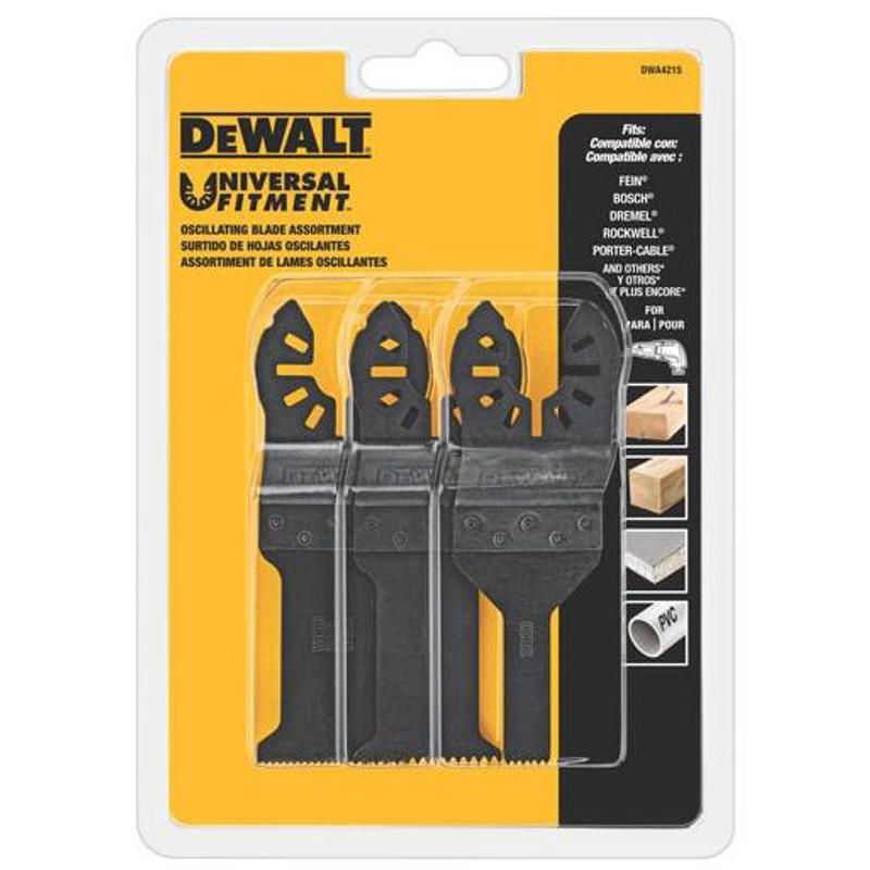 DEWALT OSCILLATING 3 PIECE SET