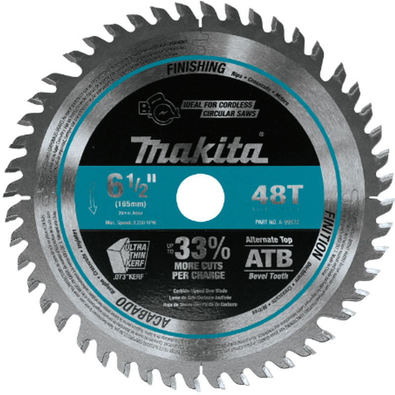 SAW BLADE C.T 6 1/2 48T MAKITA A99932
