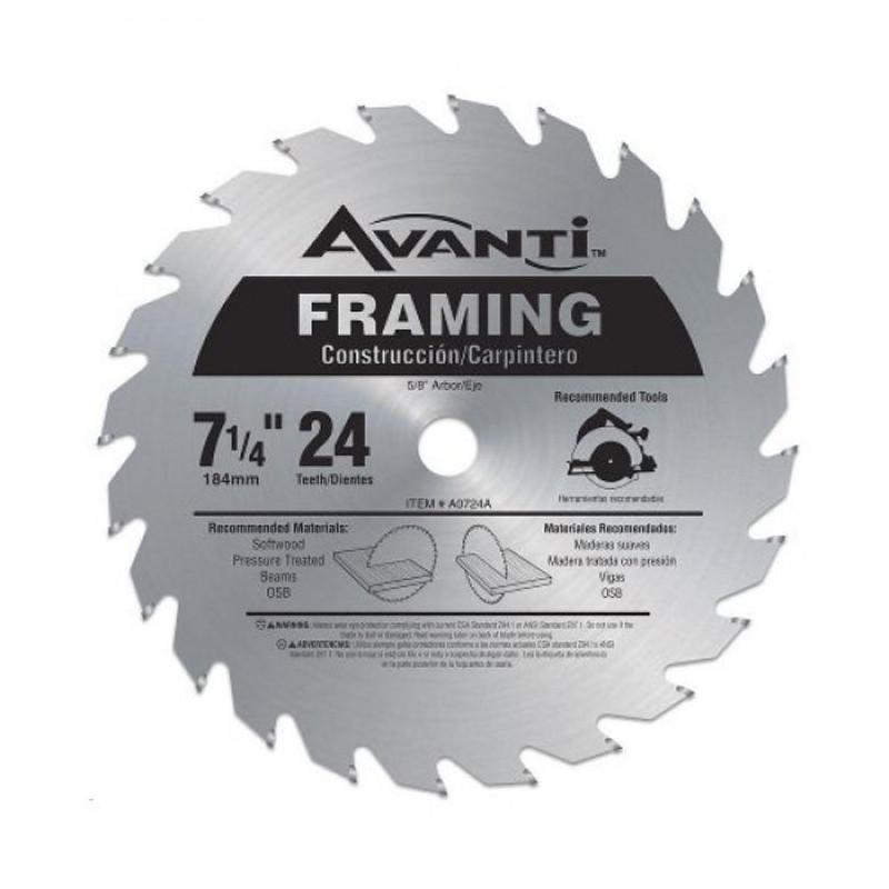 FRAMING SAW BLADE 7 1/4IN. X 24 TEETH