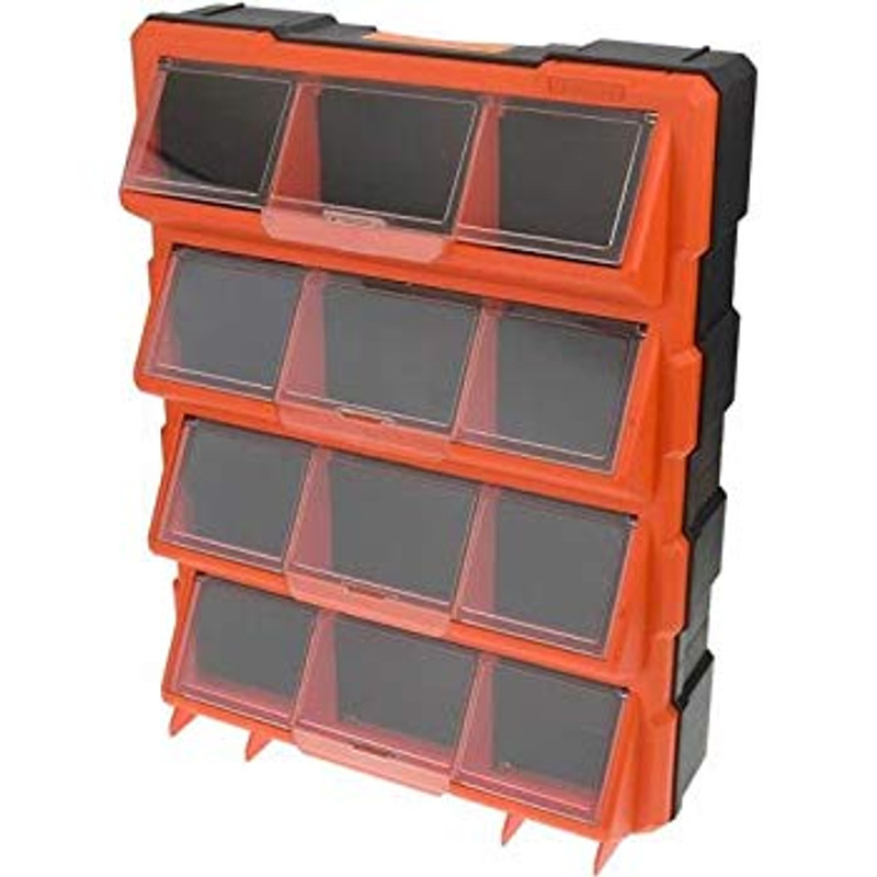 12 COMPARTMENT CLEAR STORAGE BIN TACTIX 320648