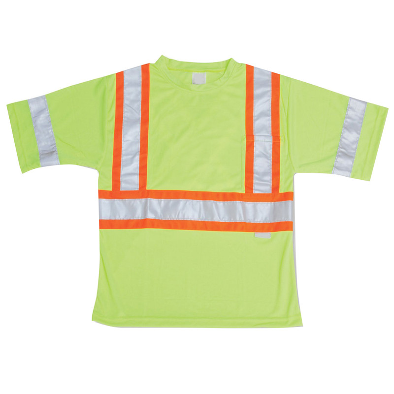 LARGE HI VIS SAFETY T SHIRT LIME