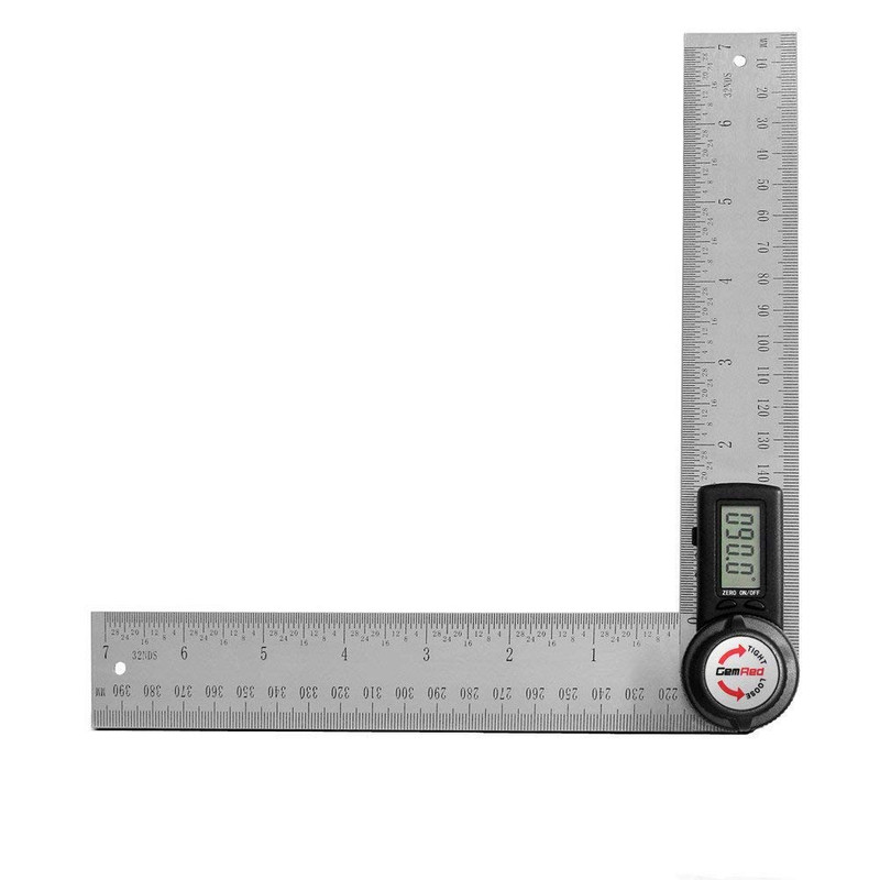 7IN. DIGITAL ANGLE RULER STAINLESS STEEL