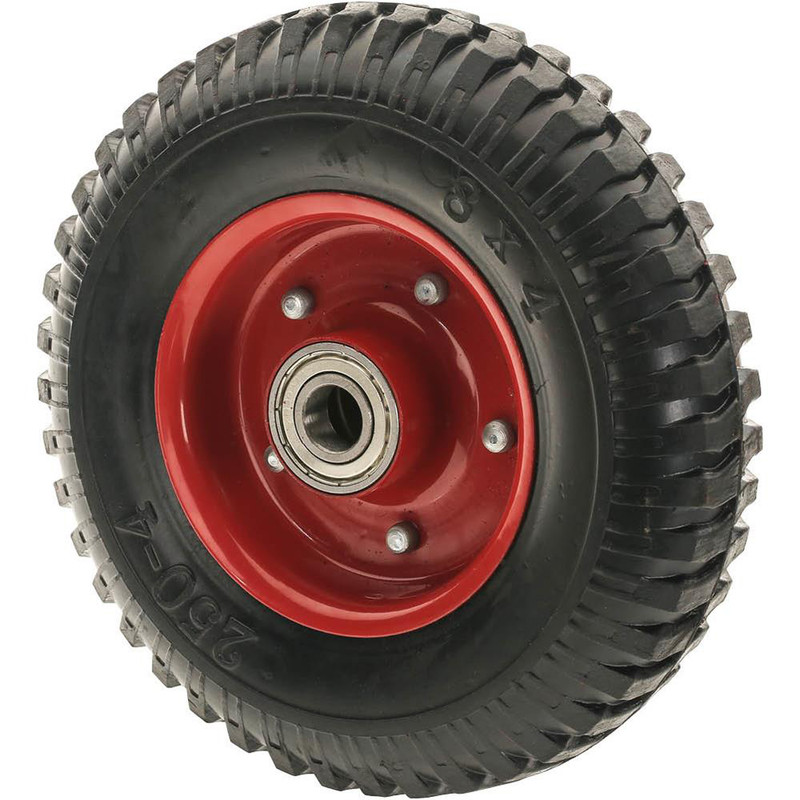 8IN. TOUGH TREAD TIRE WITH DOUBLE BEARING