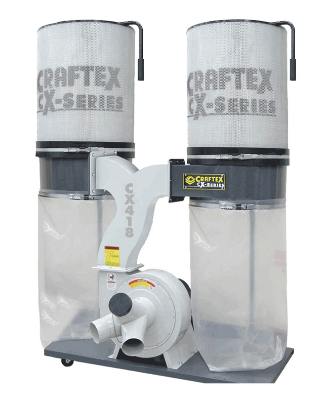 3HP DUST COLLECTOR WITH DUAL CANISTER CX CX418