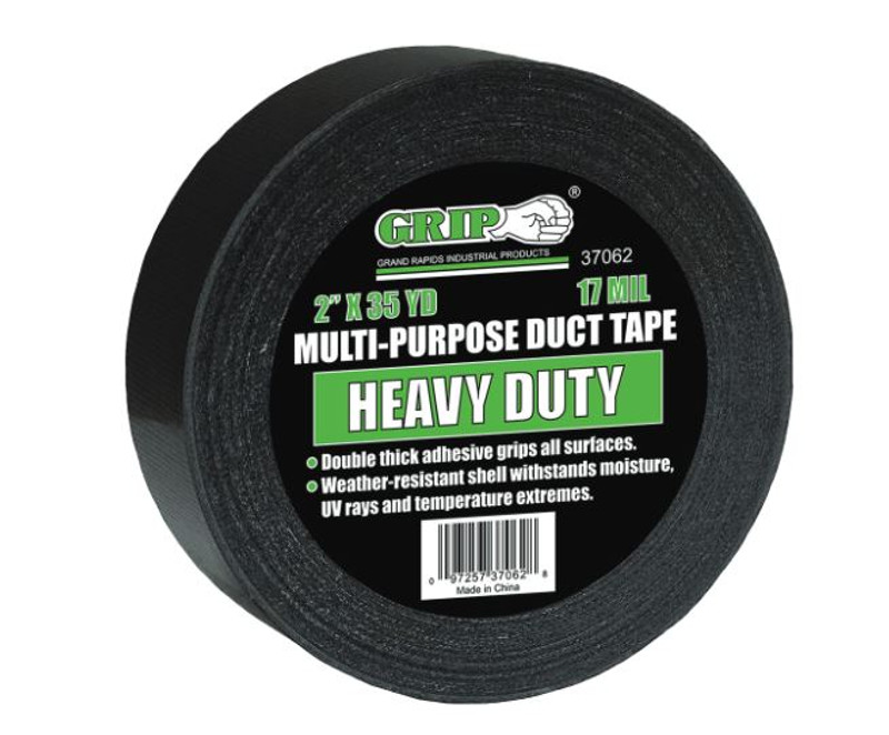 HEAVY DUTY BLACK DUCT TAPE 2IN. X 35Y