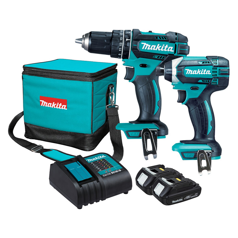 18V LXT HAMMER AND DRIVER DRILL COMBO MAKA