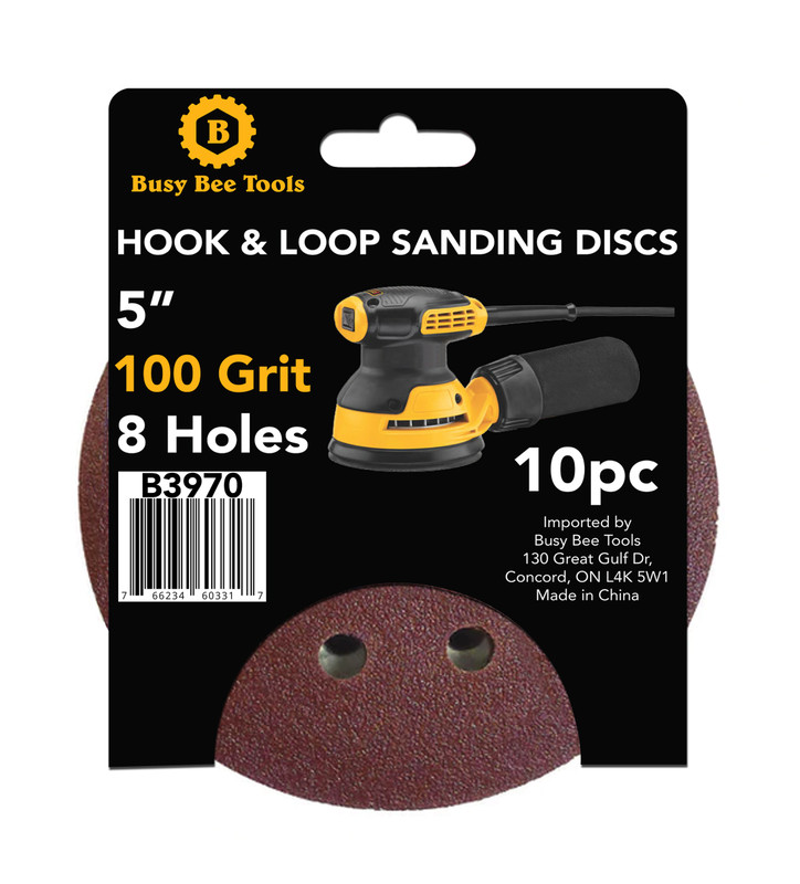 5IN. SANDING DISC 10PC 100G B3970
