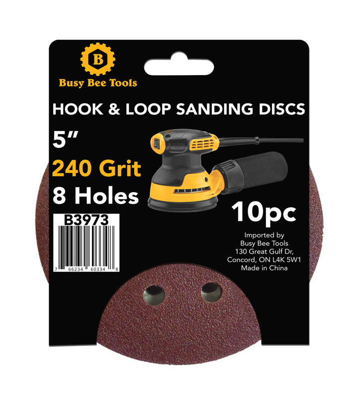 5IN. SANDING DISC 10PC 240G